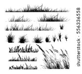 set grass. vector