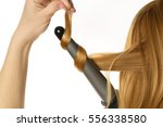 woman with red hair makes a... | Shutterstock . vector #556338580