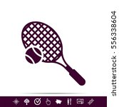 tenis game icon | Shutterstock .eps vector #556338604