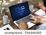 file sharing data media... | Shutterstock . vector #556344283
