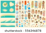 vector set. summer vacation.... | Shutterstock .eps vector #556346878