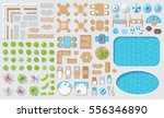 set patios elements. outdoor... | Shutterstock .eps vector #556346890
