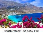 stunning greek beaches in... | Shutterstock . vector #556352140