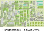 set of landscape elements.... | Shutterstock .eps vector #556352998