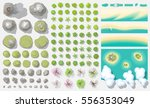 set of landscape elements.  top ... | Shutterstock .eps vector #556353049