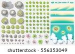 set of landscape elements.  top ... | Shutterstock .eps vector #556353049