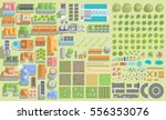 set of landscape elements.... | Shutterstock .eps vector #556353076