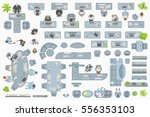 vector set of office. people at ... | Shutterstock .eps vector #556353103