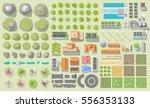 set of landscape elements.... | Shutterstock .eps vector #556353133