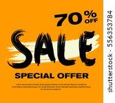 70  off. orange sale poster.... | Shutterstock .eps vector #556353784