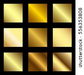 golden square banner collection.... | Shutterstock .eps vector #556353808