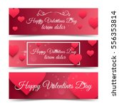 happy valentines day pink... | Shutterstock .eps vector #556353814