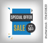 sale banner design. blue... | Shutterstock .eps vector #556353820