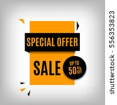 sale banner design. orange... | Shutterstock .eps vector #556353823