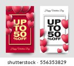 happy valentines day sale... | Shutterstock .eps vector #556353829