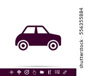 car sign icon | Shutterstock .eps vector #556355884