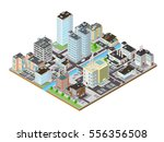 vector isometric city icon... | Shutterstock .eps vector #556356508