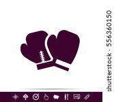 boxing gloves icon | Shutterstock .eps vector #556360150