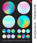 set of holographic trendy... | Shutterstock .eps vector #556361458
