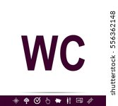 wc sign icon | Shutterstock .eps vector #556362148