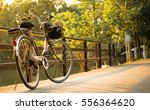 A Bicycle On Bridge With...