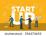business startup work moments....   Shutterstock .eps vector #556373653