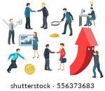 business people working. flat... | Shutterstock .eps vector #556373683