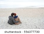 rear view of a young tourist... | Shutterstock . vector #556377730