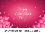 bright pink hearts for your... | Shutterstock .eps vector #556381858