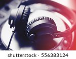 hifi audio equipment for party... | Shutterstock . vector #556383124