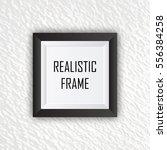 realistic black photo frame... | Shutterstock .eps vector #556384258