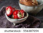 antipasti appetizer sweet... | Shutterstock . vector #556387054