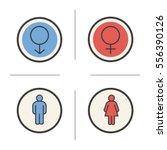 gender symbols. color icons set....   Shutterstock .eps vector #556390126