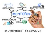 mentoring concept with business ... | Shutterstock . vector #556392724