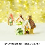 christmas decorations  vintage... | Shutterstock . vector #556395754