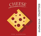 processed cheese on the red... | Shutterstock .eps vector #556397008