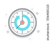 color line  timer concept... | Shutterstock .eps vector #556400110
