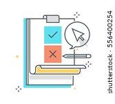 color line  survey concept... | Shutterstock .eps vector #556400254