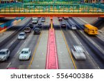 the interstate passing under... | Shutterstock . vector #556400386