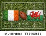 ireland vs. wales flags on...   Shutterstock . vector #556400656