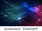 vector circuit board background ... | Shutterstock .eps vector #556401859