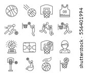 set of basketball related... | Shutterstock .eps vector #556401994
