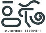 high way roads set vector | Shutterstock .eps vector #556404544