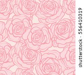 Stock vector rose flower seamless pattern pink roses on pink background stock vector 556410319