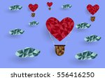 concept of love and valentines... | Shutterstock .eps vector #556416250