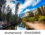 small river it the yosemite...   Shutterstock . vector #556420840