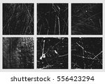 set of grunge square. vector...   Shutterstock .eps vector #556423294