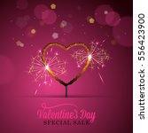 valentines day banner design...   Shutterstock .eps vector #556423900