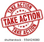 take action. stamp. red round... | Shutterstock .eps vector #556424080
