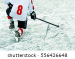 hockey player with stick on the ...   Shutterstock . vector #556426648